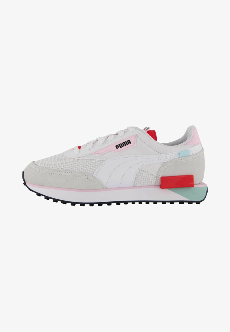 Puma - FUTURE RIDER NEON PLAY - Trainers - weiss / rot