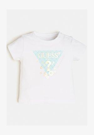 T-shirt con stampa - weiß