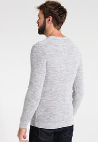 Selected Homme - SHXNEWVINCEBUBBLE CREW NECK - Jumper - marshmallow/twisted light grey - 2