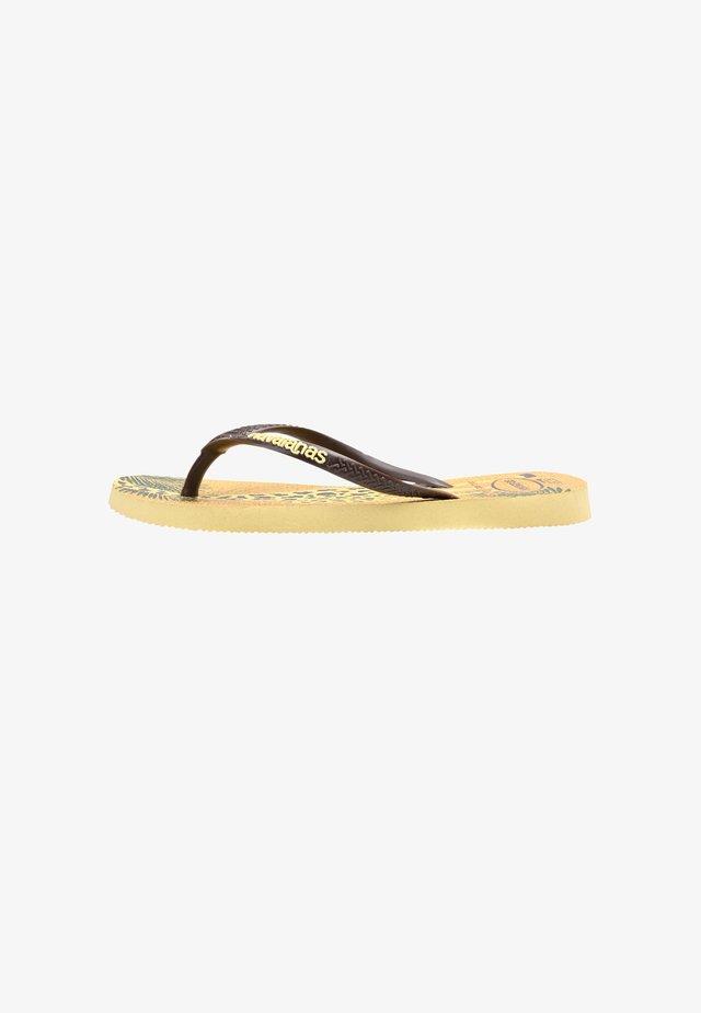 SLIM GLITTER - Sandales de bain - yellow