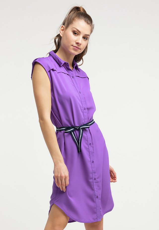 Shirt dress - electric purple