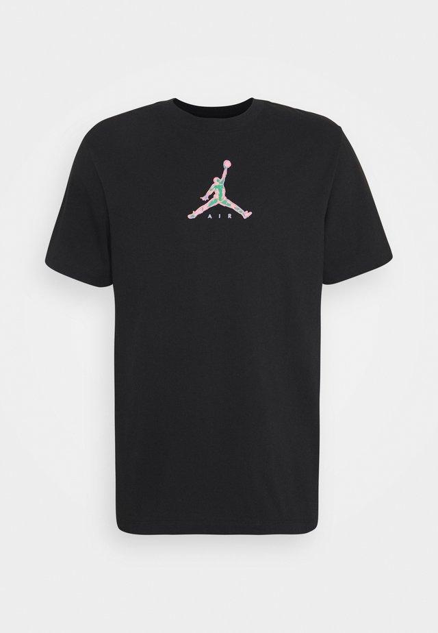BRAND CREW - T-shirt imprimé - black