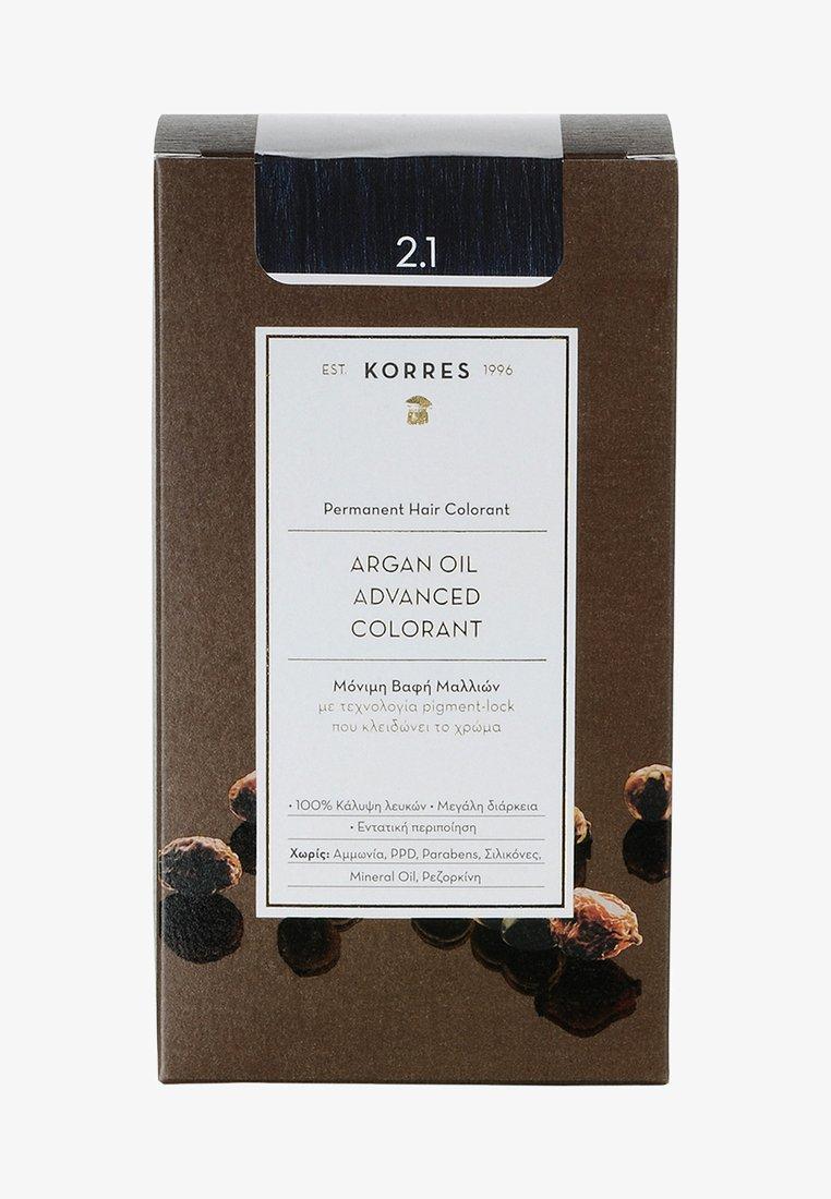 Korres - ARGAN OIL ADVANCED COLORANT - Hair colour - 2.1 blau/schwarz