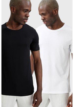 2 PACK - Basic T-shirt - black white