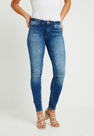 ONLCARMEN - Jeans Skinny Fit - dark blue denim