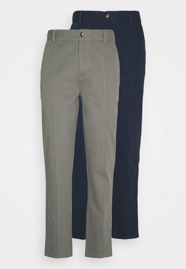TROUSER 2 PACK - Pantaloni - navy/grey