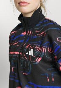 adidas Performance - HALFZIP - Sweatshirt - black/semi flash red - 6