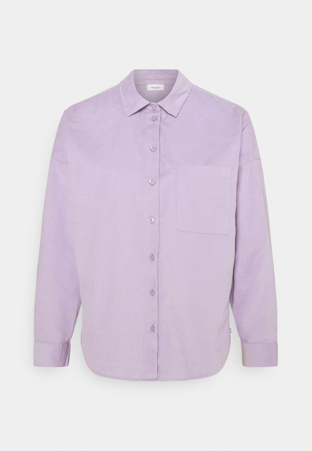 Button-down blouse - peached purple