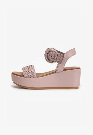 Wedge sandals - lilac llc