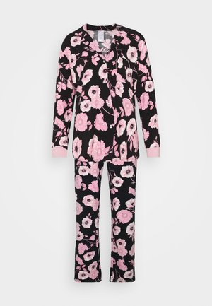 SET - Pijama - black/rose