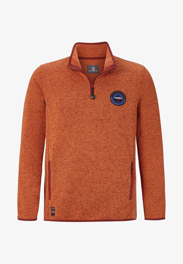 FLEECE-SWEATSHIRT DAUBE - Sweatshirt - orange melange