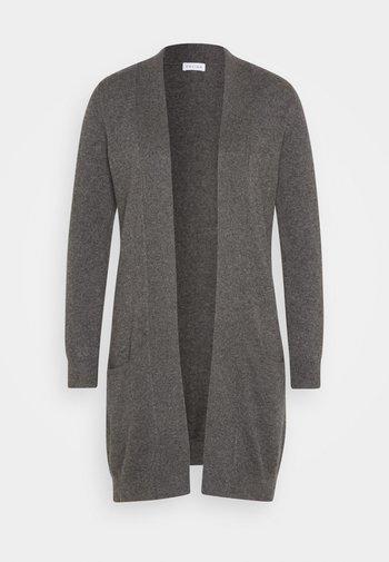 POCKET LONG CARDIGAN - Cardigan - dark gray