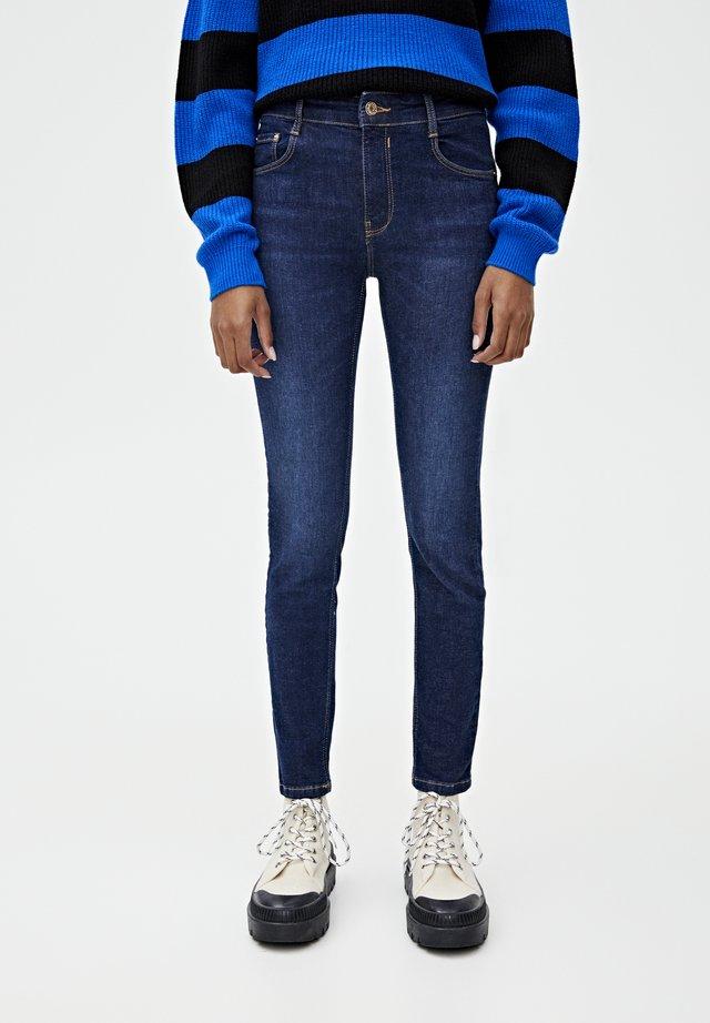 PUSH UP - Jeans Skinny Fit - mottled dark blue