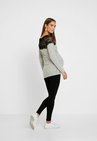 MAMALICIOUS - Jumper - light grey melange/black - 2