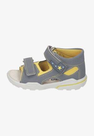 Walking sandals - graphit gelb