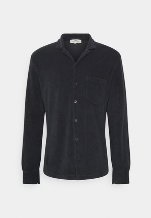 TOWELLING LONG SLEEVE UNISEX - Button-down blouse - charcoal