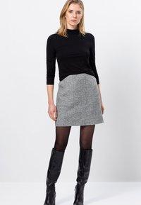 zero - MIT WOLLE - A-line skirt - silver grey-m - 1