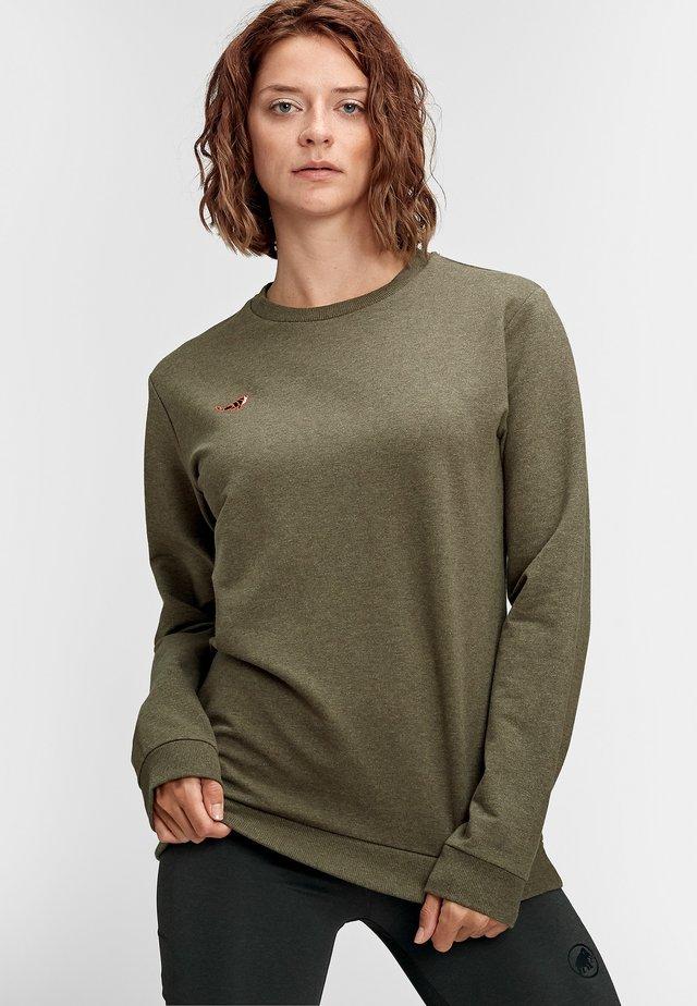 Sweater - iguana melange wolf