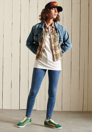 HERITAGE CHECK CROPPED - Chemisier - drayton check olive