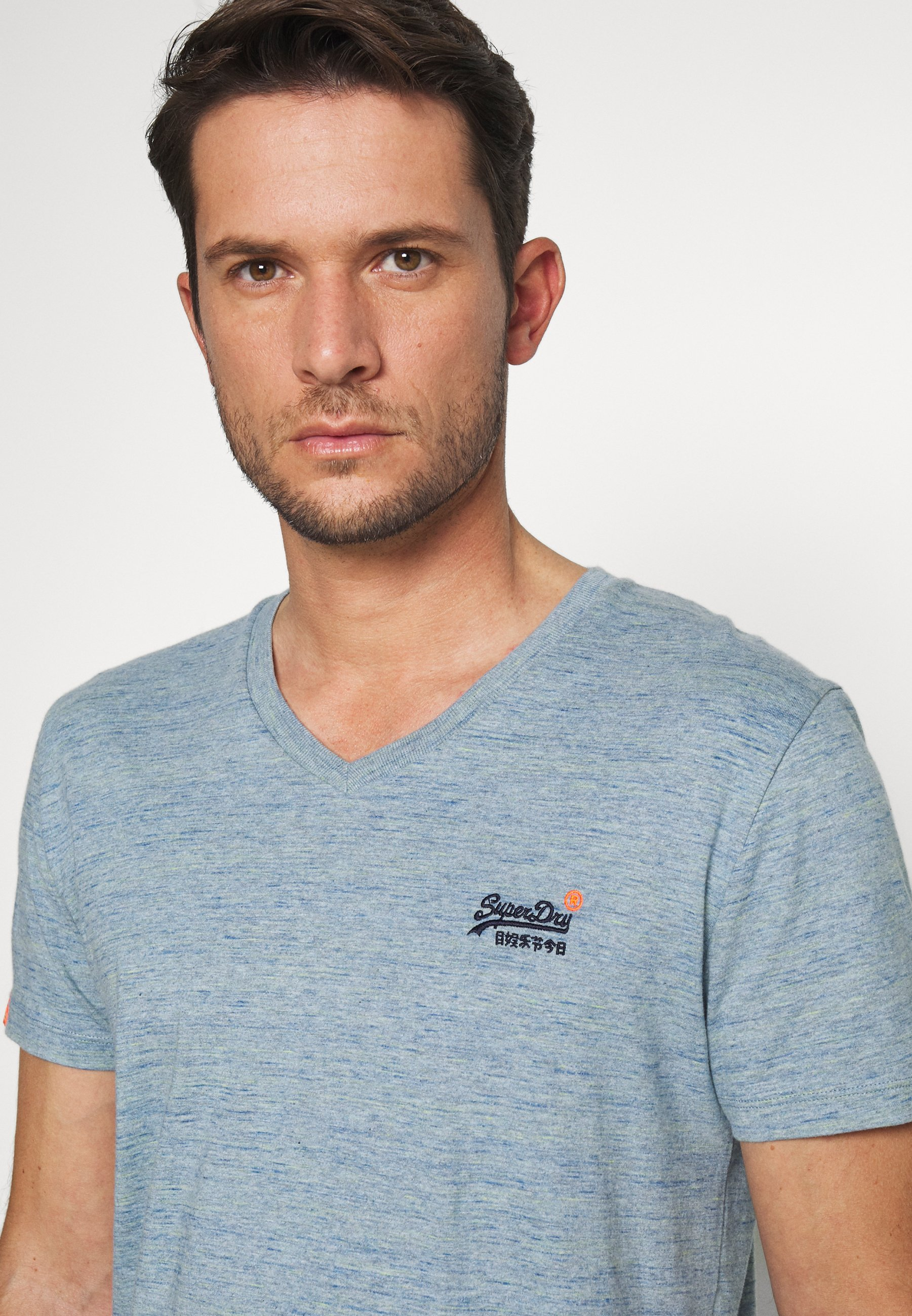 Superdry Basic T-shirt - sky blue CqZlj