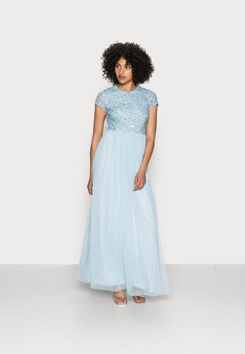 Lace & Beads - PICASSO CAP SLEEVE - Robe de cocktail - powder blue