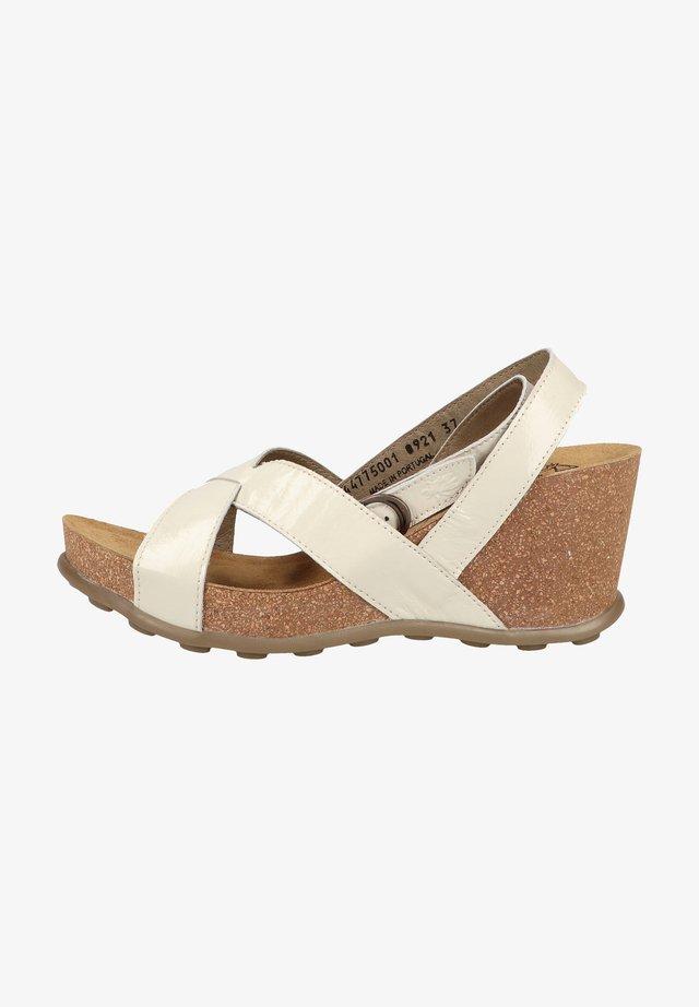 Sandales compensées - offwhite