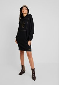 Superdry - OVERSIZED HOODED DRESS - Day dress - black - 2