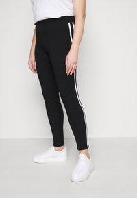 Evans - SIDE STRIPE LEGGING - Leggings - Trousers - black - 0