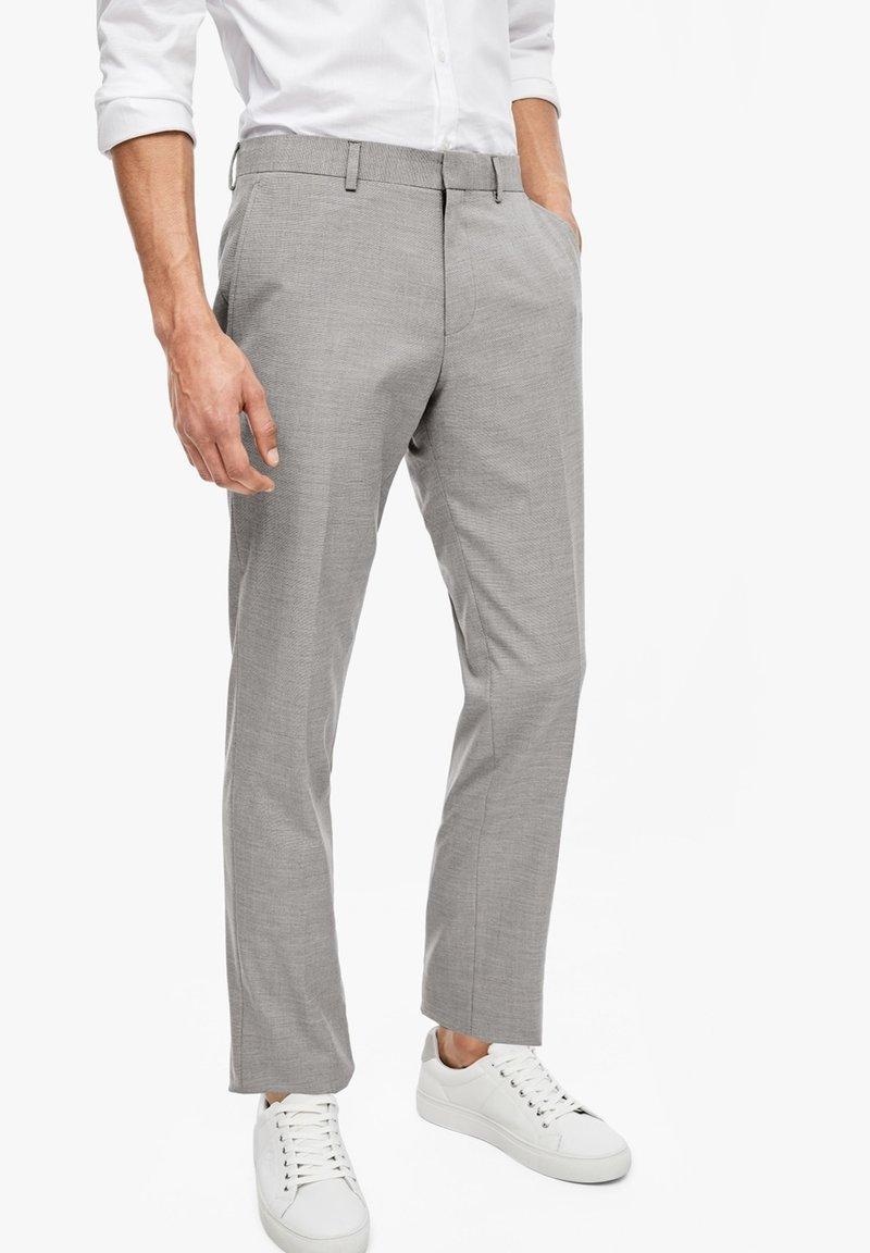 s.Oliver BLACK LABEL - Suit trousers - brown melange