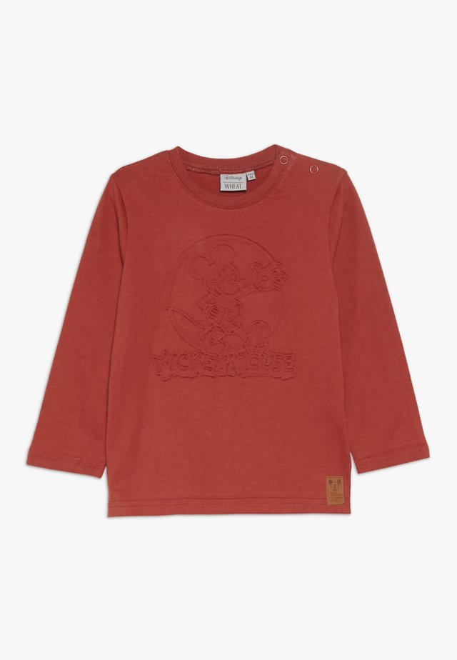 MICKEY EMBOSSED BABY - T-shirt à manches longues - red