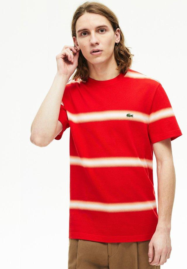 TH5065 - T-shirt imprimé - rouge / blanc