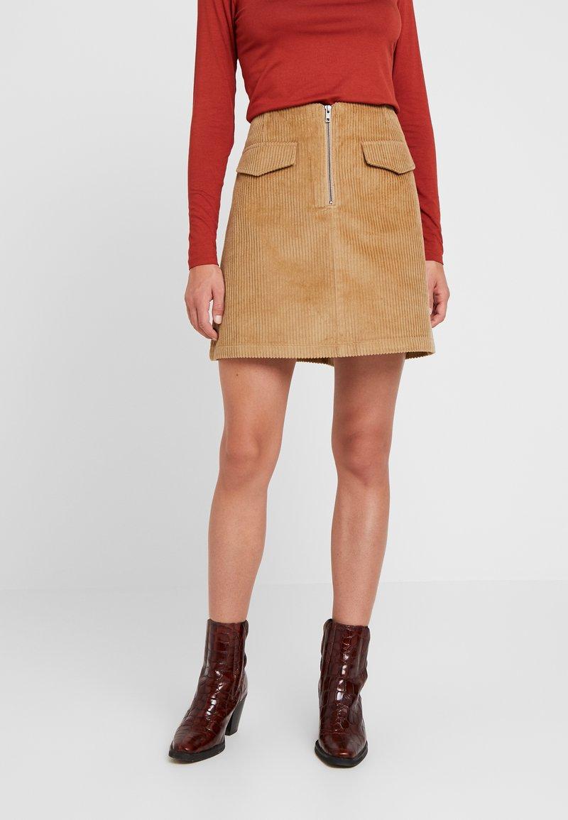 Levete Room - GERTRUD - Áčková sukně - brown clay