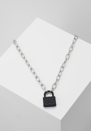 LOCKDOWN LINK CHAIN NECKLACE - Náhrdelník - black