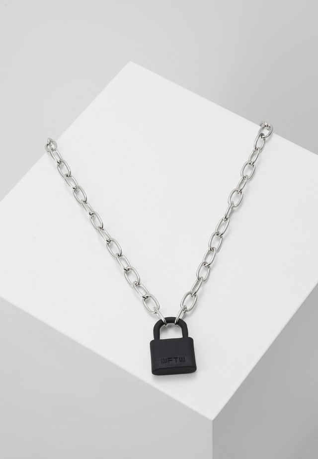 LOCKDOWN LINK CHAIN NECKLACE - Ketting - black