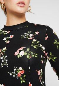 Dorothy Perkins - WINTER FLORAL PRINT HIGH NECK SWING - Jersey dress - black - 4