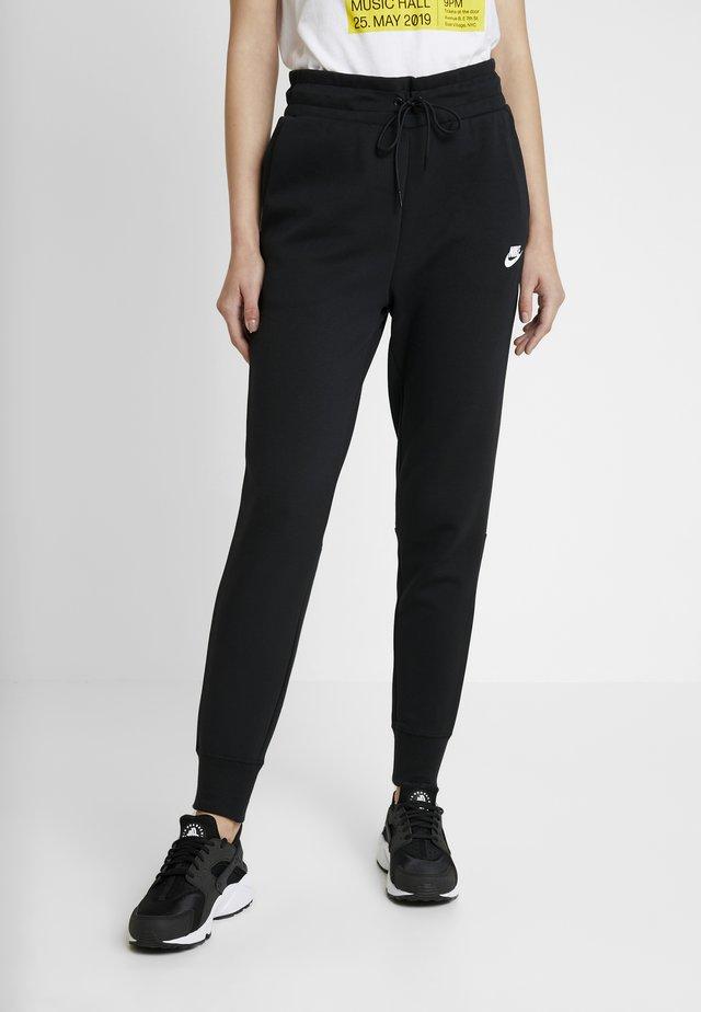 W NSW TCH FLC PANT - Pantalon de survêtement - black/white