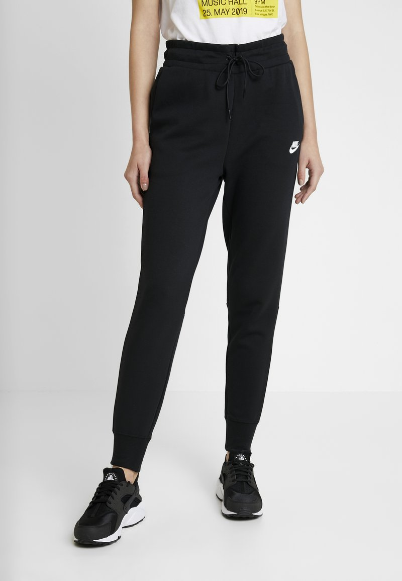 Nike Sportswear - W NSW TCH FLC PANT - Verryttelyhousut - black/white