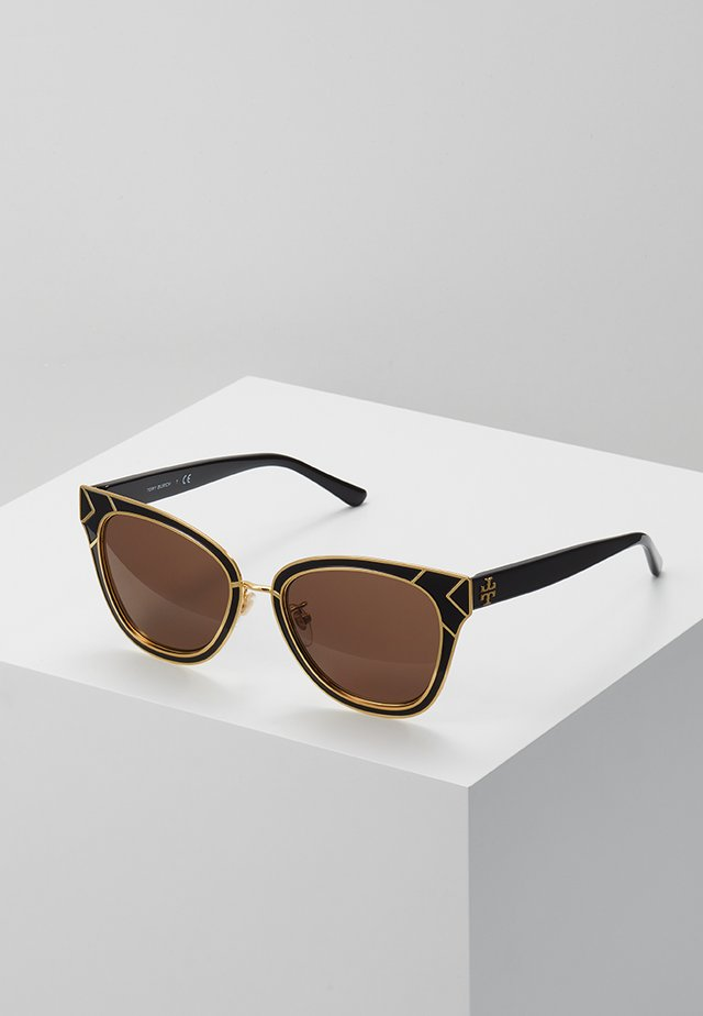 Sunglasses - shiny black/shiny gold-coloured