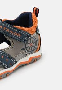 TOM TAILOR - Sandals - navy/grey/neon orange - 5