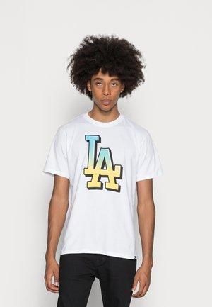 LOS ANGELES DODGERS BACKER ECHO - T-shirt print - white wash
