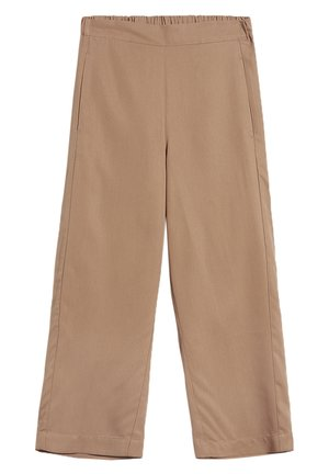 KAMALAA - Trousers - dark caramel