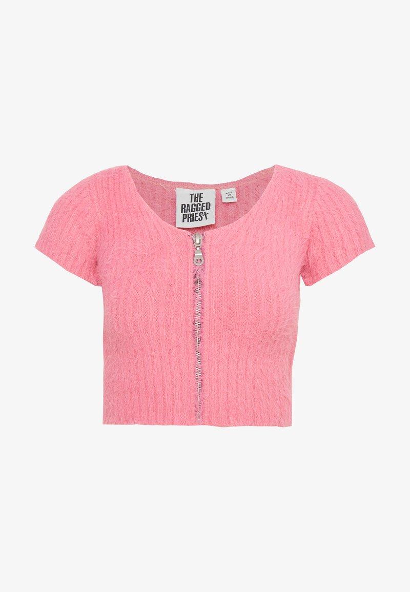 The Ragged Priest - PINKZIP EYELASH TOP - Print T-shirt - pink