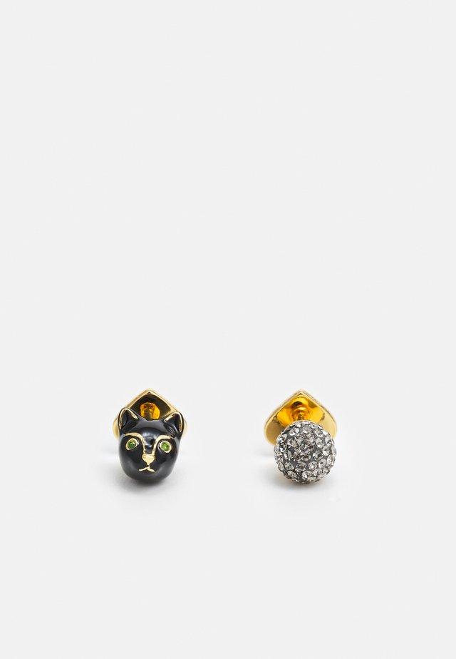ASYMMETRICAL STUDS - Earrings - black