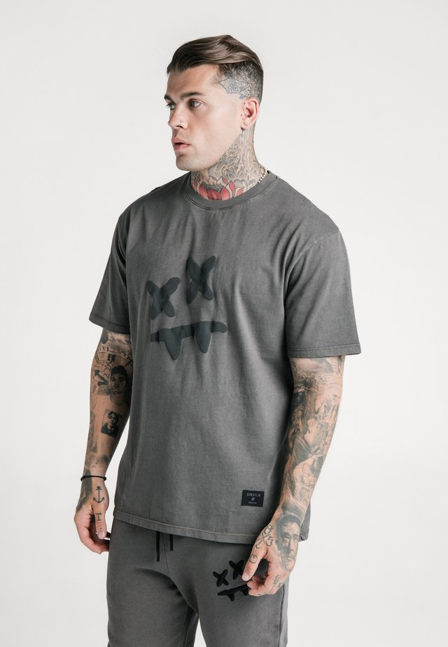 STEVE AOKI X  ESSENTIAL TEE - T-shirt print - washed grey