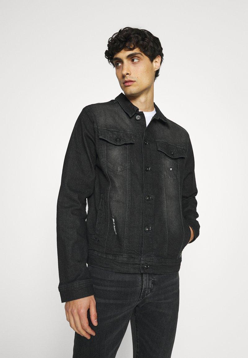 INDICODE JEANS - GLENALVON - Denim jacket - black