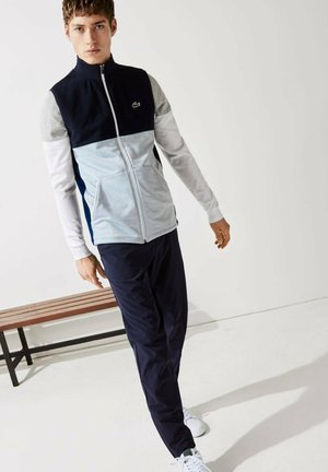 Waistcoat - navy blau/heidekraut grau/weiß