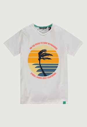 PALM PRINT - Print T-shirt - powder white