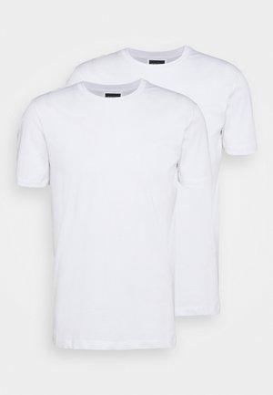 SET 2 PACK - Jednoduché triko - bianco ottico