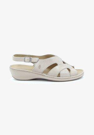 RHODES - Sandalen met sleehak - beige