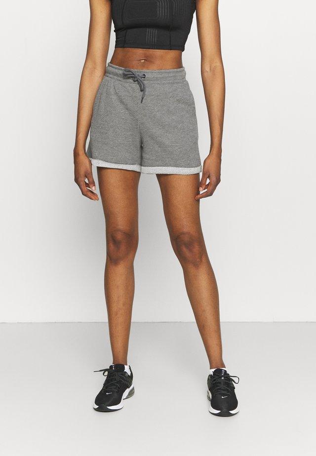 ONPARETHA JAZZ  - Pantalón corto de deporte - medium grey melange/dark grey